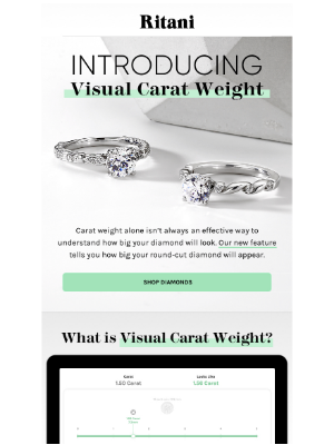 New: Visual Carat Weight Tool