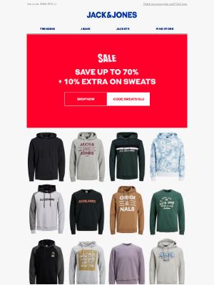 Jack & Jones - Flash offer: 10% extra off SALE sweatshirts