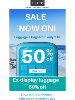 Sale now on plus enjoy up to 60% off ex-display stock!