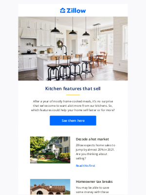 Zillow - 6 kitchen features that could help you sell for more