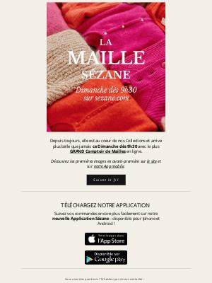 Sézane (France) - Ça ouvre Dimanche ❤️
