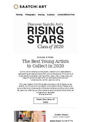 Saatchi Art - Exclusive: Meet the Rising Stars Class of 2020