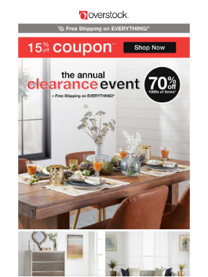14% off Coupon | Get Over the Mid-Week Slump! It's Your Chance to Refresh Your Space!