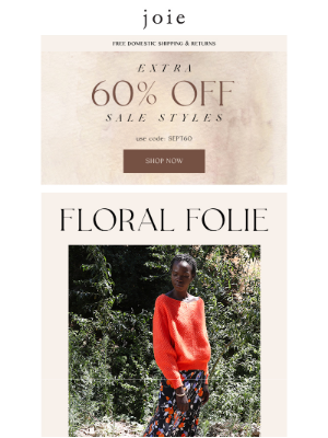 Joie - Fall Florals & 60% Off Sale