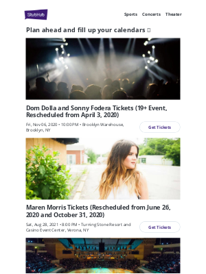 StubHub - 🎫 Don't miss your chance at these awesome events!