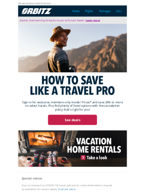 Orbitz - You'll warm right up to these members-only deals
