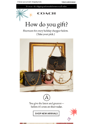Coach - A New Kind Of Gift Guide