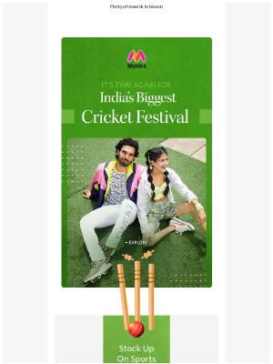 Myntra - It's Time To Go Cricket Crazy!