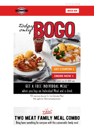 BOGO Individual Meal - Today Only!