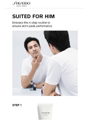 Shiseido - Upgrade His Skincare Routine