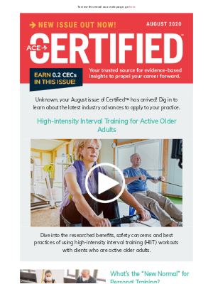 """ACE Fitness - CERTIFIED 