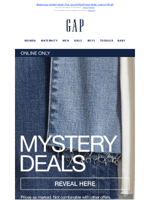 Gap (CA) - How much? Only one way to find out —>