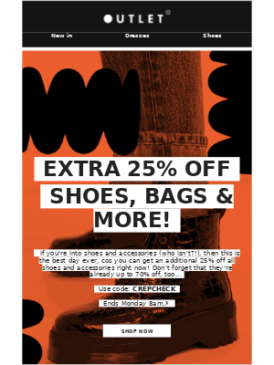 ASOS (UK) - Extra 25% off shoes, bags & more 🎉