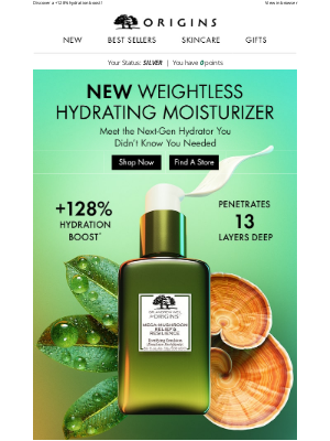 Origins - NEW Mega-Mushroom Weightless Hydrating Moisturizer