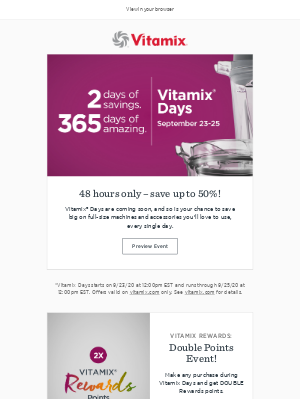 Vitamix - Our biggest sale of the year is coming!!