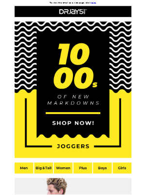 1000's of New Markdowns!