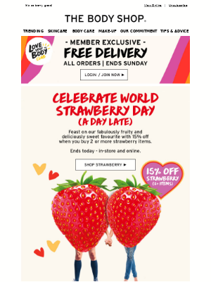 Love FREE delivery and fruity faves? Then read on....