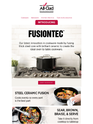 All-Clad Metalcrafters - Introducing FusionTec by All-Clad