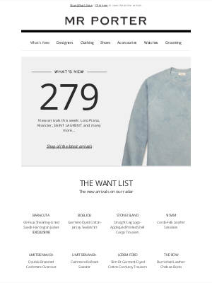 MR PORTER - What's new? 279 new arrivals from Fear of God Essentials Kids and more