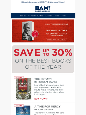 Books-A-Million - Our Top 5 Best Books of 2020 – Up to 30% Off