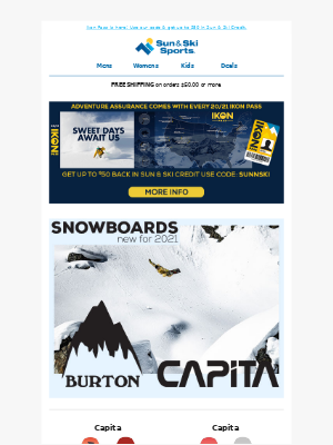 Sun & Ski - Rip with these 2021 Snowboards & Skis