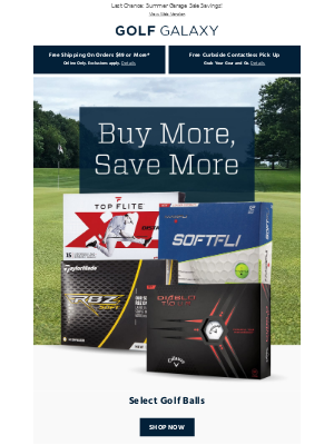 Now's the Time! Buy More, Save More on Select Golf Balls
