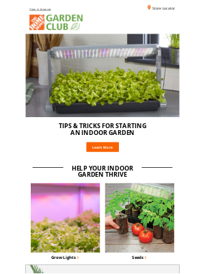 The Home Depot (CA) - 🌱 Help your indoor plants thrive with grow lights!