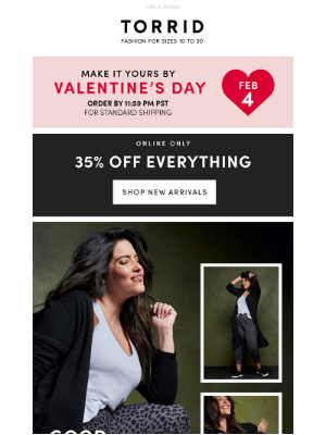 Torrid - Compliments incoming…