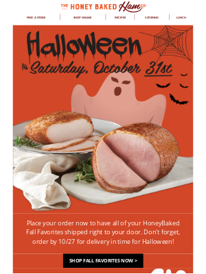 HoneyBaked Ham Online - 🎃Celebrate Halloween with HoneyBaked!