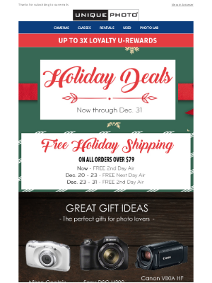 Unique Photo - Have some Cheer, Holiday Deals are Here!