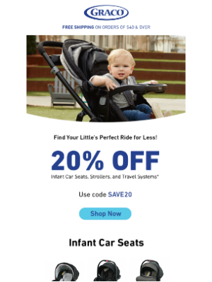 Graco Baby Products - Take 20% off baby's newest ride…