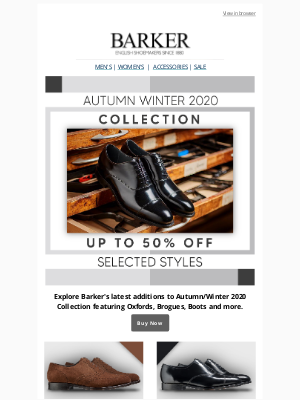 Barker Shoes (UK) - Sale Just Got Bigger | Up To 50% Off Selected Styles