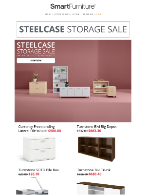The Steelcase Organization Sale Is Here!