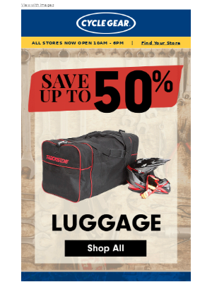 Cycle Gear - Accessories up to HALF OFF