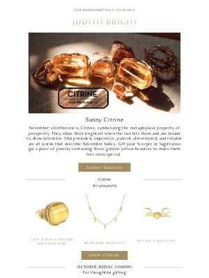 Judith Bright Jewelry - Gifts for your November babes!
