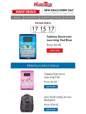 HobbyTron - $5.95 -Tableta Electronic Learning Pad Blue