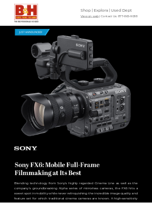 B&H Photo Video - Sony FX6 & FE C 16-35mm E-Mount Lens - Preorder Now