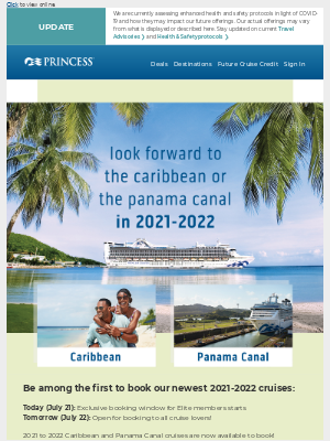 Your chance to book these 2021-2022 cruises 🌴