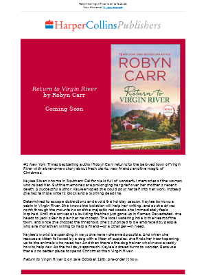 HarperCollins (UK) - Robyn Carr returns to the beloved town of Virgin River with a brand-new story