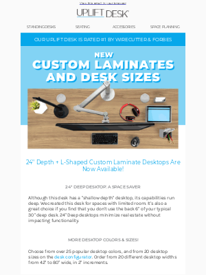 Uplift Desk - What's New? Take a Look