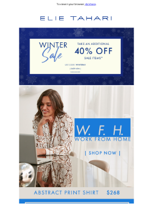 Elie Tahari - Work From Home In Style!