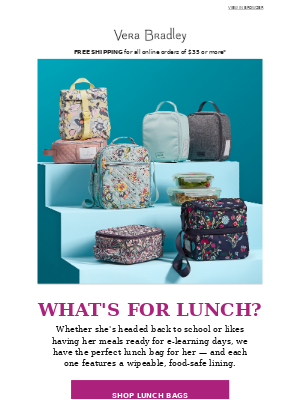 These coordinating lunch bags are just the thing to brighten her day ...