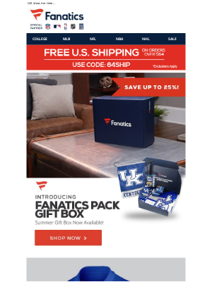 Fanatics - Father's Day Is Coming...