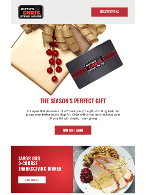 Ruth's Chris - Perfect for Every Occasion 🎁