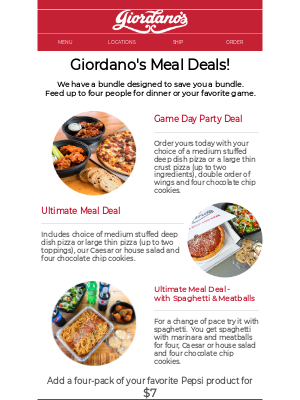 Giordano's Pizza - Okay, here's the deal...