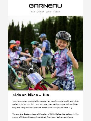 Kids on bikes = fun! 🚴