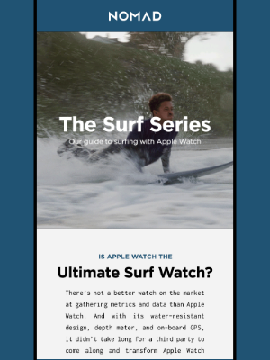 Nomad Goods - The Surf Series