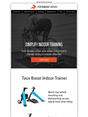Performance Bicycle - Simplify Indoor Training