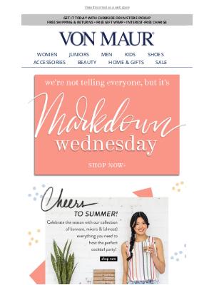Von Maur - Happy Markdown Wednesday!