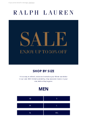 Ralph Lauren (UK) - Shop by Size in Our Winter Sale